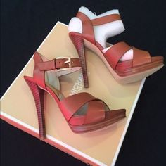 Brand New Michael Kors heels Super cute. Never worn MICHAEL Michael Kors Shoes Heels