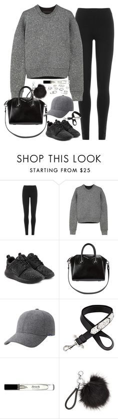"""Untitled#4179"" by fashionnfacts ❤ liked on Polyvore featuring DKNY, Alexander Wang, NIKE, Givenchy, Keds, Bobbi Brown Cosmetics and Free People"