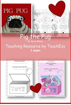 """Help children learn to share with this resource to accompany the book """"Pig the Pug"""". Suitable for preschool to Year 1. Available @ www.teachezy.com OR  http://earlychildhoodteachezy.com/literacy/"""