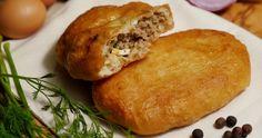 Πιροσκί με κιμά The Kitchen Food Network, Food Network Recipes, Baked Potato, Food To Make, Hamburger, Bread, Baking, Breakfast, Ethnic Recipes