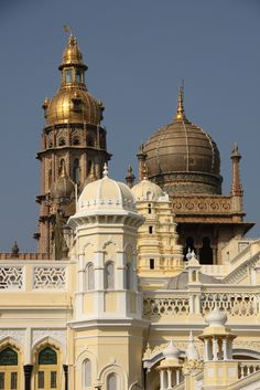 Turrets of Mysores grand maharajah palace | India