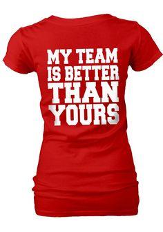 buy online d31de da60a Nebraska Cornhuskers Womens Red My Team V-Neck T-Shirt (back) http