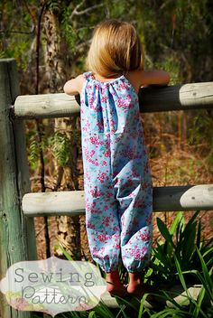 INSTANT DOWNLOAD- Summer Romper (Sizes 6/12 months to Size 6) PDF Sewing Pattern and Tutorial on Etsy, $6.00