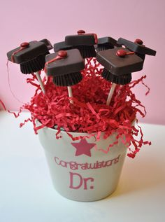 Chocolate Graduation Cap Bouquet- making it special (and looks pretty easy)