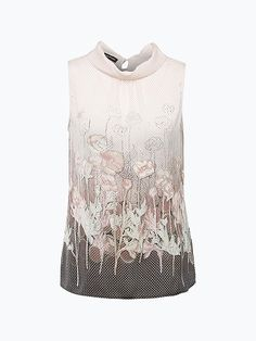 TAIFUN Damska bluzka bez rękawów – Petit Four