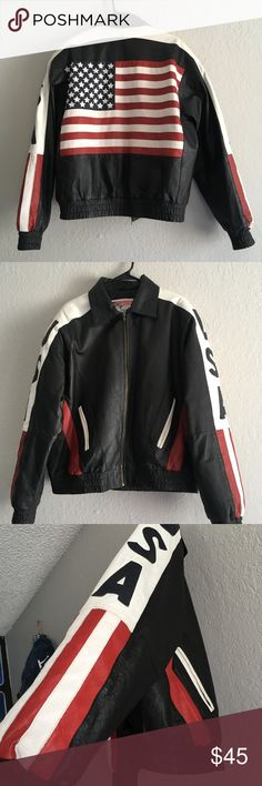 God Bless America Leather Jacket God Bless America Leather Jacket 100% Authentic & Very High Quality Jackets & Coats Bomber & Varsity