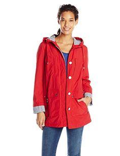 Tommy Hilfiger Women's Hooded Raincoat, Salsa, Small Tommy Hilfiger http://www.amazon.com/dp/B00RD5SXUY/ref=cm_sw_r_pi_dp_LhCWvb1RH76XH
