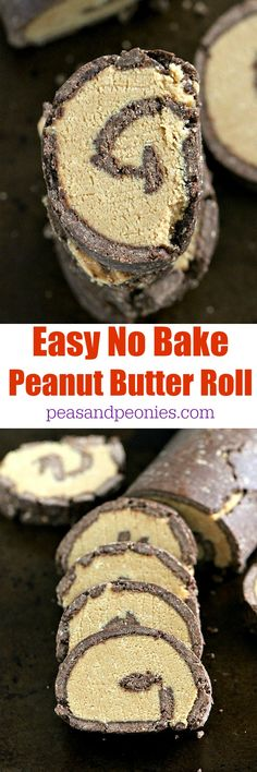 No Bake Peanut Butter Roll that tastes just like a gigantic Reese's is very easy to make and packs a ton of peanut butter flavor.