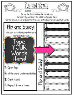***4 FREE SAMPLES!!!*** Customize Your OWN Word Work Printables with ANY Spelling, Sight Word, or Vocabulary Word List!
