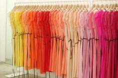 My OCD loves it when I go into a store and the clothes are organised like this.