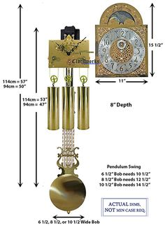 Mechanical Clock Kits - Build a Grandfather Clock with Ease : Clockworks Grandfather Clock Kits, Grandmother Clock, Mechanical Wall Clock, Wall Clock Kits, Mantel Clocks, Chain Drive, Clock Movements, Clock Parts, Large Clock