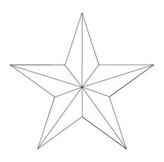 Drafting a 5 point star with string for hex sign signs for Five points tattoo