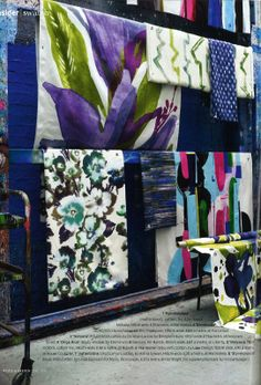 Painterly fabrics - June 11 issue. Photographs by Carolyn Barber.