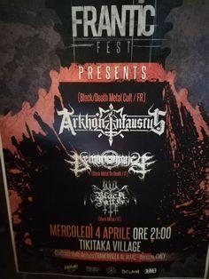 Al TikiTaka Village (Francavilla al Mare - Chieti), ieri 4 aprile, ha preso il via una serata dedicata ad un sottogenere del metal oscuro ed invocativo. L'Intero concerto è stato presenziato da band black metal di un certo spessore: