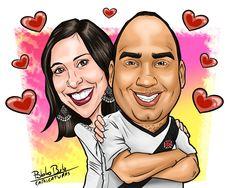 Vasco, namorados, caricatura, caricatura de vascaíno, casal, desenho