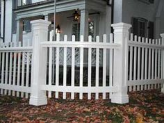 picket fence square post - Google Search