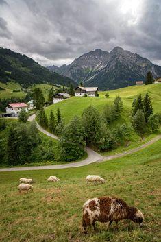 Hirschegg #kleinwalsertal #visitvorarlberg Alpine Village, Golf Courses, Landscape