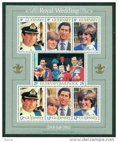 Commemorative Stamps of the Royal Wedding of Prince Charles & Lady Diana on July 29,1981.