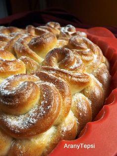 Nincs is ennél jobb hétvégi program! Hungarian Desserts, Hungarian Cake, Hungarian Recipes, Hungarian Food, Bread And Pastries, Sweet Bread, Pound Cake, Tart, French Toast