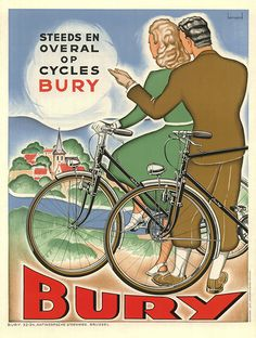 BicycleGifts.com - Cycles Bury Bicycle Poster, $29.00 (http://www.bicyclegifts.com/cycles-bury-bicycle-poster/)