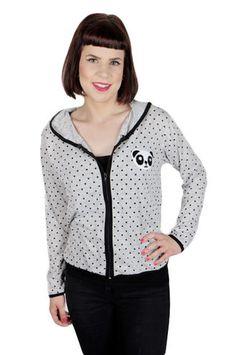 So cute panda polkadot sweater!