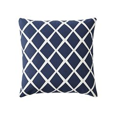 Diamond Pillow Cover – Navy | Serena & Lily