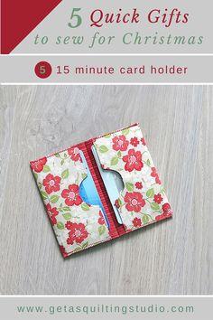 Card holder tutorial /Geta's Quilting Studio