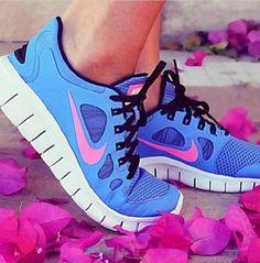 Running. My favorite sneakers <3 Nike Free 5.0 running sneakers <3