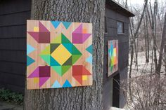 How to Make Your Own Barn Quilt   https://merrypad.com/2018/04/24/diy-modern-barn-quilt/