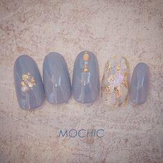 New Fails Art Pink Blue Nailart Ideas Elegant Nails, Stylish Nails, Trendy Nails, Cute Nails, Korean Nail Art, Korean Nails, Nail Swag, Japan Nail, Asian Nails