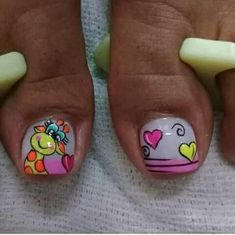Pedicure Designs, Pedicure Nail Art, Toe Nail Designs, Toe Nail Art, Nail Art Diy, Diy Nails, Cute Nails, Summer Toe Designs, Giraffe Nails