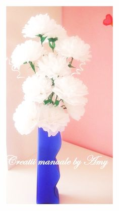 carnation crepe paper flowers Crepe Paper Flowers, Carnations, Lava Lamp, Crafts, Diy, Home Decor, Manualidades, Decoration Home, Bricolage