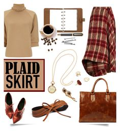 """Plaid Skirt"" by serepunky ❤ liked on Polyvore featuring Brock Collection, J.W. Anderson, Mulberry, H&M, Nine to Five, BOBBY, Vintage, Alice Joseph Vintage, Madewell and vintage"