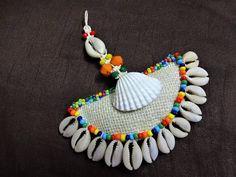 Cowrie Shell Tassel Purse & Handbag Decoration Jute Fabric