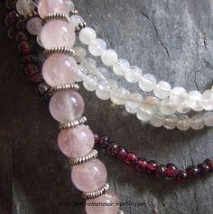 Collier en Quartz Rose et Argent 925. Silver and Pink Quartz Necklace