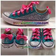 Bridal Custom Converse by From Mi To You. www.frommitoyou.com #junkchucks#customconverse