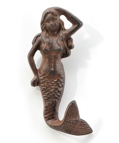 Look what I found on #zulily! Cast Iron Mermaid Wall Hook by Giftcraft #zulilyfinds
