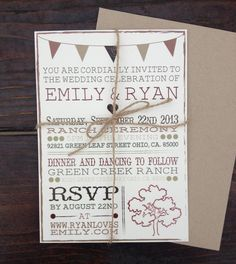 Rustic Wedding Bridal Shower and Bachelorette by PaperGrey on Etsy