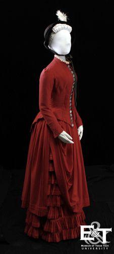 •♥•✿ڿڰۣ(̆̃̃•Aussiegirl #Vintage #Wear  1882 wool day dress.