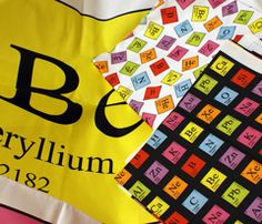 All kinds of chemistry fabric!