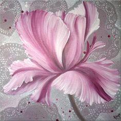 Timeless Tulip - Oil on Chunky Box Canvas