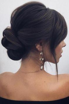 wedding hairstyles 2019 elegant low bun lenabogucharskaya #PromHairstyles #elegant #hairstyles #lenabogucharskaya #promhairstyles #wedding