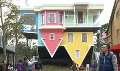 House That Was Built Upside Down in Taipei, Taiwan