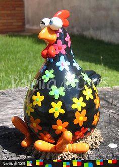 Farm Crafts, Rock Crafts, Garden Crafts, Crafts To Do, Arts And Crafts, Chicken Crafts, Chicken Art, Paper Mache Crafts, Clay Crafts
