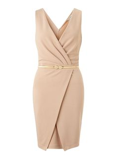 Drape Wrap Pencil Dress - Miss Selfridge