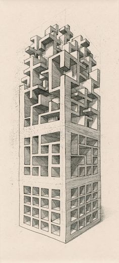 "GOOD DESIGN. Complexity, perspective and proximity make of this drawing a ""masterpiece"" that recalls Escher work."