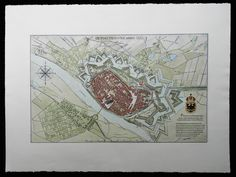 Town Map, Deventer in 1832, the Netherlands by Sander Clement, via Behance