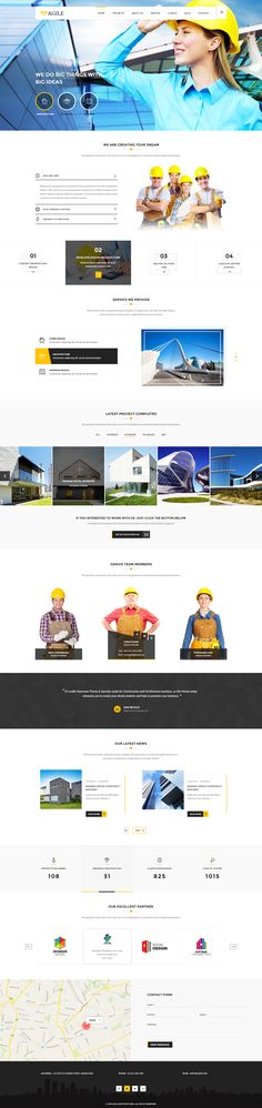 Agile is one and multi page wordpress theme for construction and builders companies. Agile is elegant, clean and responsive web design.