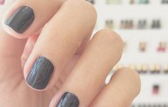 I recently read that you can dry your nails extra quick by submerging them in ice cold water.