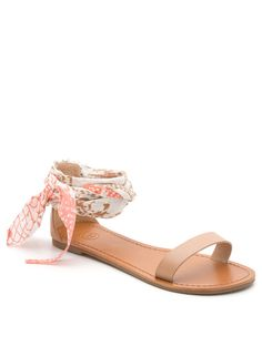 Cute ankle wrap sandals
